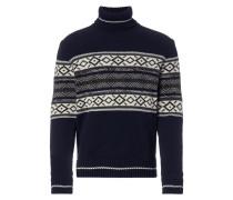Rollkragen-Pullover aus Wolle mit Muster