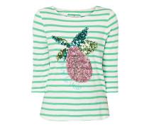 Shirt mit Streifenmuster und Pailletten