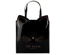 Tote Bag in Lackoptik und Katzen-Design