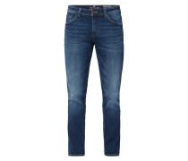 Stone Washed Regular Slim Fit Jeans