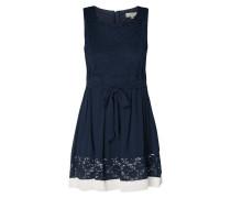 Kleid mit Besatz aus Spitze