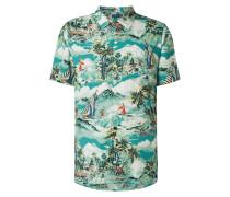 Regular Fit Freizeithemd aus Viskose