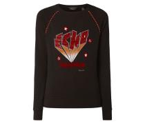 Sweatshirt mit Flockprint