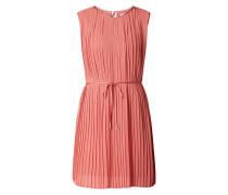 Kleid aus Chiffon mit Plisseefalten Modell 'Hilla'