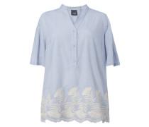 PLUS SIZE - Blusenshirt mit floralen Stickereien