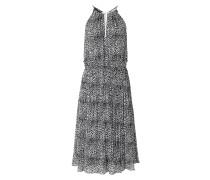 Kleid aus Chiffon mit Schlangenkette