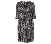PLUS SIZE - Kleid mit Blättermuster