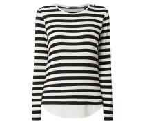 Shirt mit Streifenmuster und Kontrastsaum