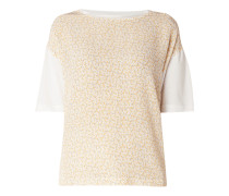 Shirt mit Kontrasteinsatz