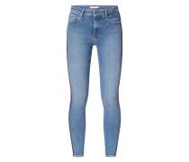 Skinny Fit Jeans mit Zierpaspeln