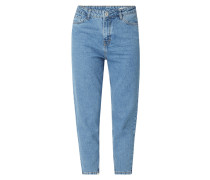 Rinsed Washed Mom Fit Jeans