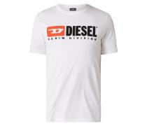 T-Shirt mit großer Logo-Stickerei