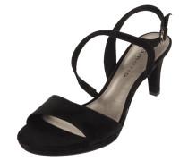 Sandalette in Veloursleder-Optik