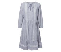 Kleid aus Baumwolle mit Webmuster