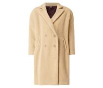 Oversized Mantel aus Teddyfell