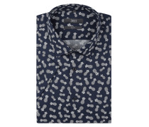 Slim Fit Businesshemd mit Allover-Muster
