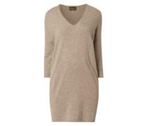 Kleid aus Woll-Kaschmir-Mix mit überschnittenen Schultern
