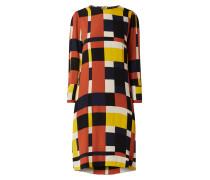 Kleid aus Viskose mit grafischem Muster