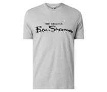 Regular Fit T-Shirt mit Logo-Flockprint