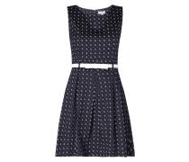 Kleid mit Taillengürtel und Kellerfalten