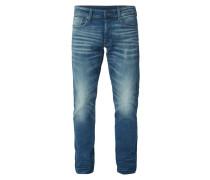 Old Blue Washed Tapered Fit 5-Pocket-Jeans