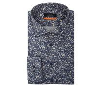 Slim Fit Hemd mit floralem Muster