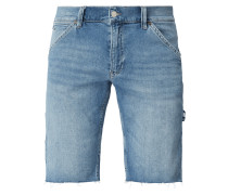 Stone Washed Baggy Fit Jeansshorts