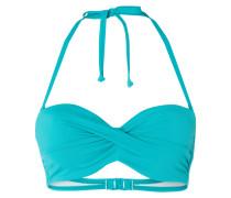Bikini-Oberteil mit Drapierung - Push-up