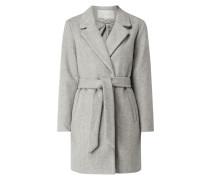 Mantel mit gebundenem Taillengürtel