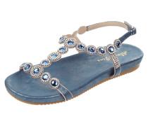 Sandale mit Ziersteinen