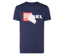 T-Shirt mit Logo-Print und Aufnäher