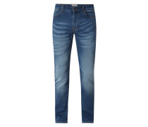 Slim Fit Jeans aus Sweat Denim