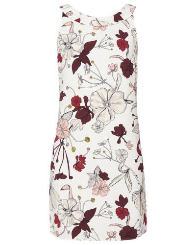 Kleid mit floralem Muster und gebundener Schluppe