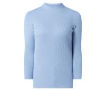 Pullover mit Kaschmir-Anteil und Stehkragen