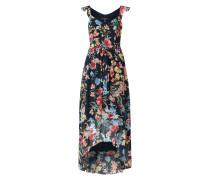 Vokuhila Kleid aus Chiffon mit floralem Muster
