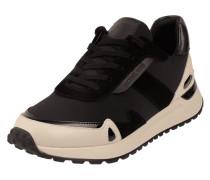 Sneaker aus Scuba mit Lederbesatz Modell 'Monroe'