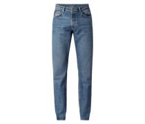 THROWBACK - Regular Fit Jeans mit Knopfleiste