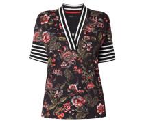 Shirt mit Blumen und Streifen
