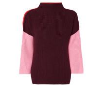 Pullover im dreifarbigen Design