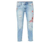 Girfriend Fit 5-Pocket-Jeans im Destroyed Look