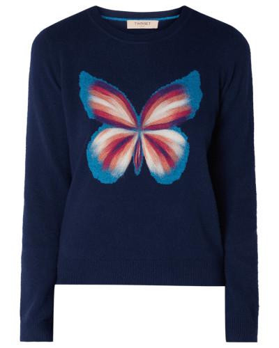 Pullover mit eingestricktem Schmetterling