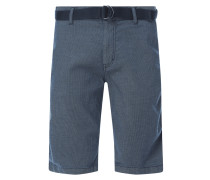 Regular Slim Fit Chino-Shorts aus Baumwolle Modell 'Josh'