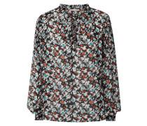 Blusenshirt aus Chiffon mit Schnürung