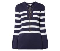 Pullover mit Streifenmuster und Kettendetails