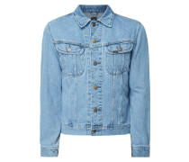 Rinsed Washed Slim Fit Jeansjacke