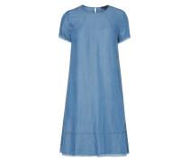 Kleid in Denimoptik mit ausgefransten Abschlüssen