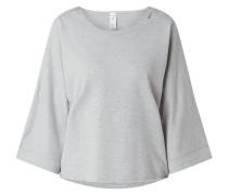 Sweatshirt in Melange-Optik