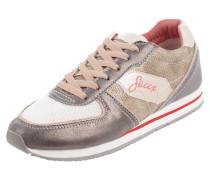 Sneaker mit Kontrastbesatz aus Mesh