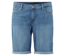 PLUS SIZE - Stone Washed Shaping Fit Jeansbermudas