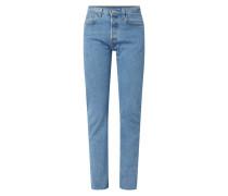 Straight Fit Jeans mit ausgefranstem Beinabschluss Modell '501'